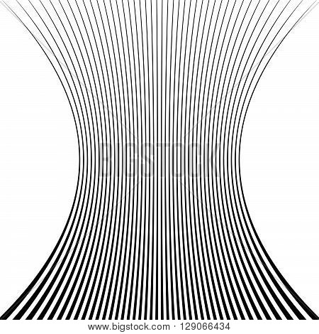 Lines With Squeezed Deformation Effect.