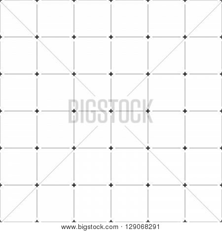 Abstract Grid, Mesh Pattern With Plus Symbols.