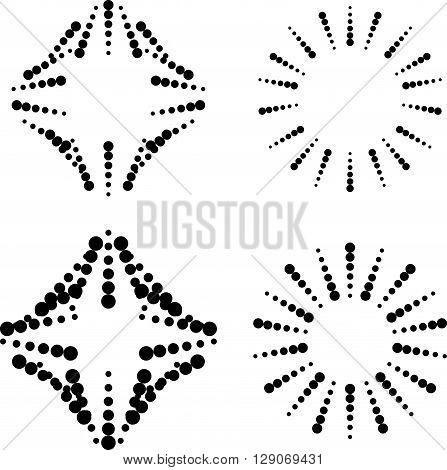 Set Of Dotted Elements