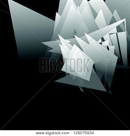 Artistic Geometric Image - Random Angular, Edgy Shapes Overlapping. Modern Geometric Art Illustratio