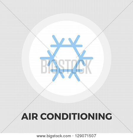 Air conditioning icon vector. Flat icon isolated on the white background. Editable EPS file. Vector illustration.