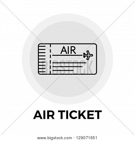 Air Ticket Icon Vector. Flat icon isolated on the white background. Editable EPS file. Vector illustration.