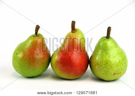 fresh Bartlett pears isolated on white background