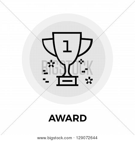 Award Icon Vector. Flat icon isolated on the white background. Editable EPS file. Vector illustration.