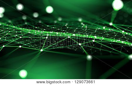 Connected lines background