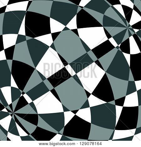 Abstract Tessellating Background. Overlapping Mosaic Shapes. Grayscale-monochrome Geometric Backgrou