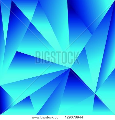 Polygonal Background With Triangle Shapes. Crystallized Effect.