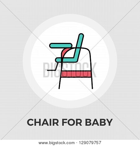 Chair for baby icon vector. Flat icon isolated on the white background. Editable EPS file. Vector illustration.