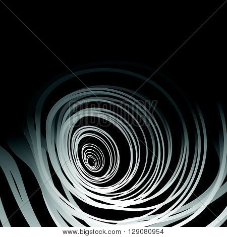 Abstract Artistic Image With Random Concentric Distorted Circles - Circular Shapes