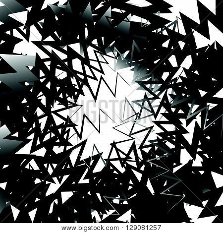Abstract Graphic With Irregular, Random Lines. Artistic Monochrome Graphic.