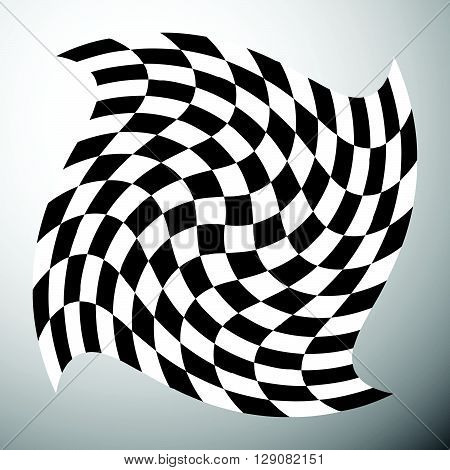 Checkered Shape With Spirally Vortex Effect