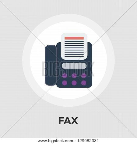 Fax icon vector. Flat icon isolated on the white background. Editable EPS file. Vector illustration.