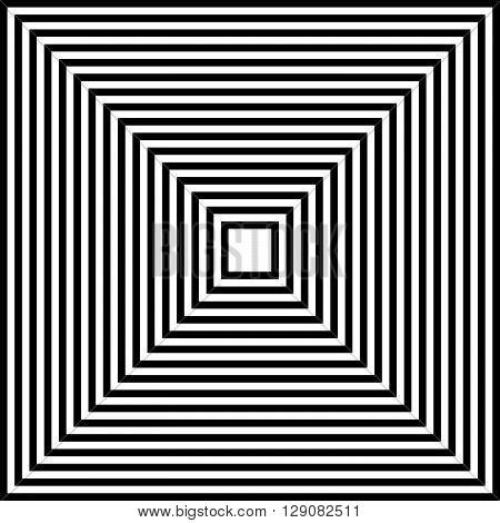 Converging, Radiating Squares