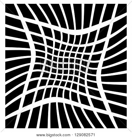 Mesh Of Squares With Distortion Effect. Simple Artistic Element. Other Versions In My Portfolio.