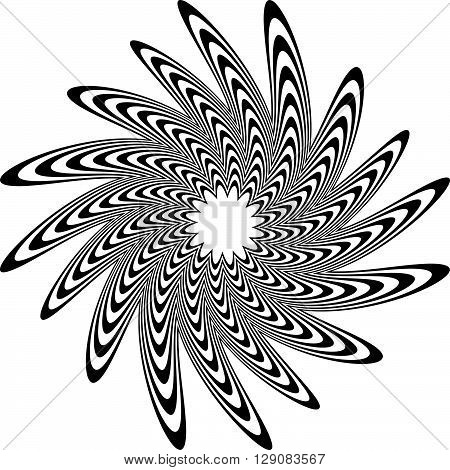 Circular Shape With Spiral, Vortex Distortion Effect