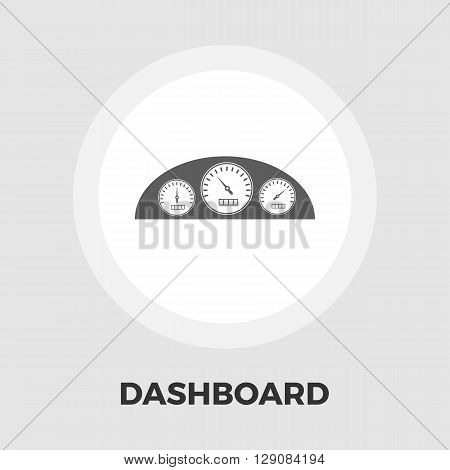 Dashboard icon vector. Flat icon isolated on the white background. Editable EPS file. Vector illustration.