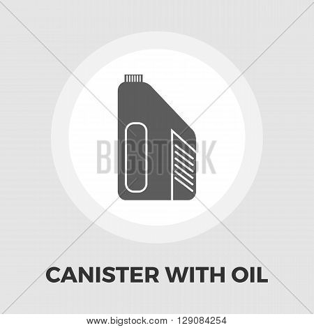 Jerrycan icon vector. Flat icon isolated on the white background. Editable EPS file. Vector illustration.
