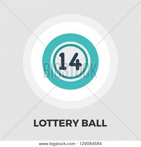 Lottery ball icon vector. Flat icon isolated on the white background. Editable EPS file. Vector illustration.