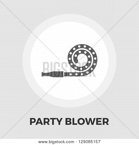 Party blower icon vector. Flat icon isolated on the white background. Editable EPS file. Vector illustration.