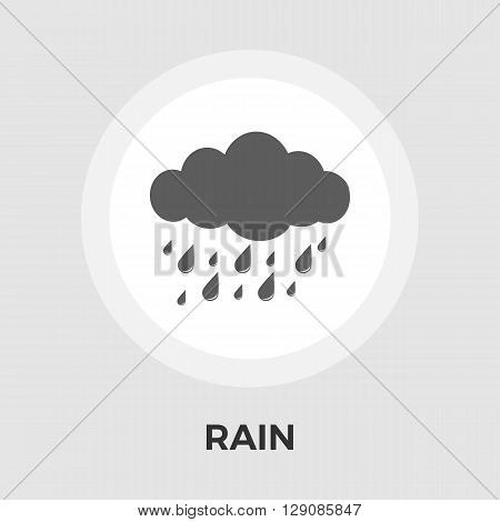 Rain icon vector. Flat icon isolated on the white background. Editable EPS file. Vector illustration.