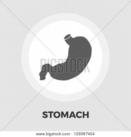 Stomach icon vector. Flat icon isolated on the white background. Editable EPS file. Vector illustration.