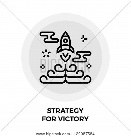Strategy icon vector. Flat icon isolated on the white background. Editable EPS file. Vector illustration.