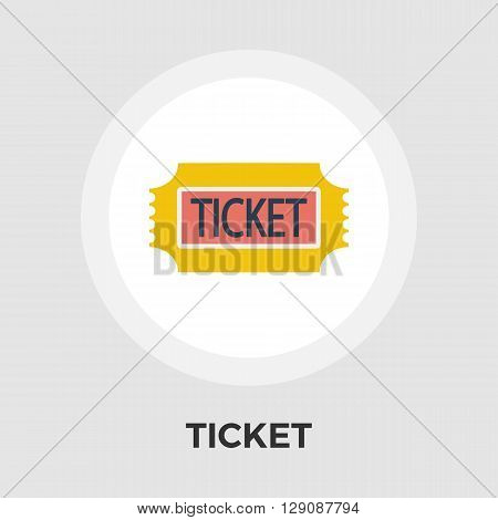 Ticket icon vector. Flat icon isolated on the white background. Editable EPS file. Vector illustration.