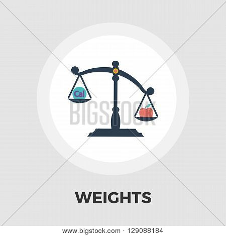 Weights icon vector. Flat icon isolated on the white background. Editable EPS file. Vector illustration.