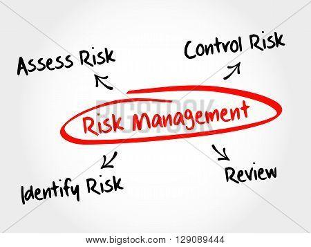 Risk Management Mind Map Flowchart