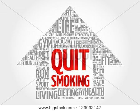 Quit Smoking Arrow Word Cloud