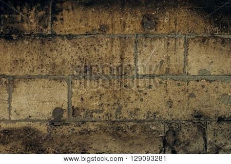 Close-up stone wall texture. It can be used as a background