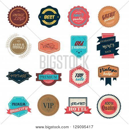 Vintage labels set use for any design
