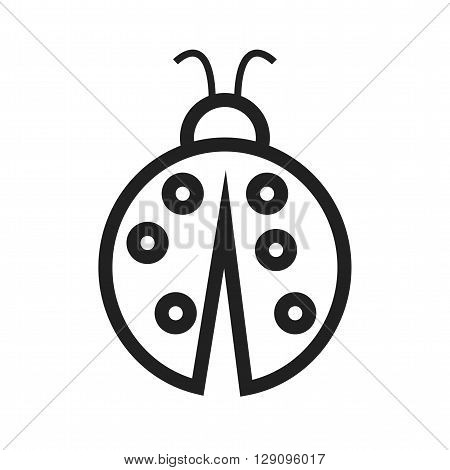 Beetle, leaf, nature icon vector image. Can also be used for seasons. Suitable for web apps, mobile apps and print media.