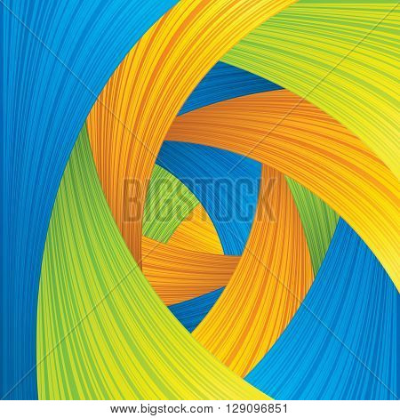 Abstract Blue Green Yellow Strokes Background. Vector Ready for Your Text and Design.