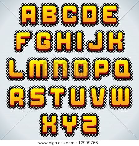 Retro Comics Vector Font. Typography for Labels, Headlines, Posters etc. Ready for Your Text and Design.