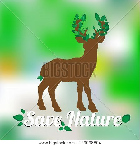 Element for World Environment Day. Deer Icon