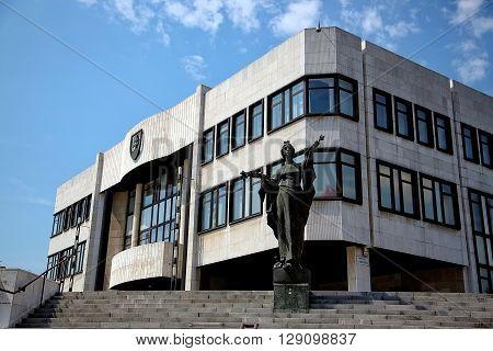 Bratislava, Slovakia - May 29: Building of parliament on May 29, 2015 in Bratislava, in Slovakia