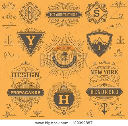 premium quality design resources. Labels, banners and design elements set.