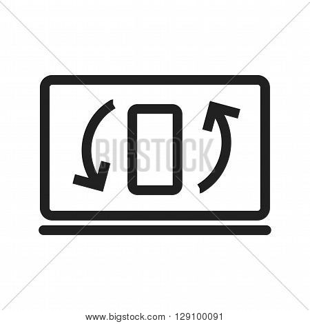 Sync, refresh, update icon vector image. Can also be used for digital web. Suitable for use on web apps, mobile apps and print media.