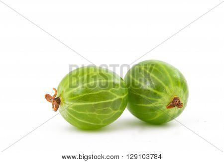gooseberries isolated on a white background, eat, cocktail,