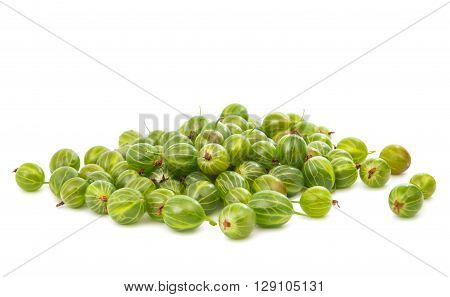 gooseberries isolated on a white background mineral, vitamin,
