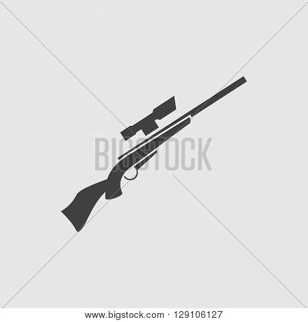 Rifle gun icon illustration isolated vector sign symbol