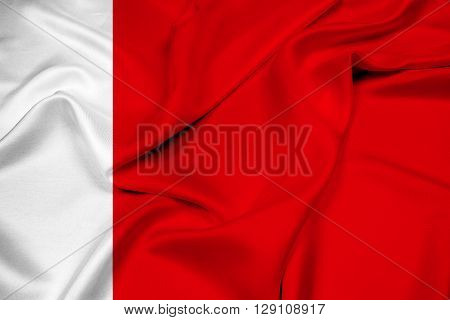 Waving Flag of Dubai, with beautiful satin background.