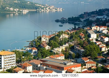 Kotor bay in Montenegro it boasts the preserved Venetian fortress old tiny villages medieval towns and scenic mountains