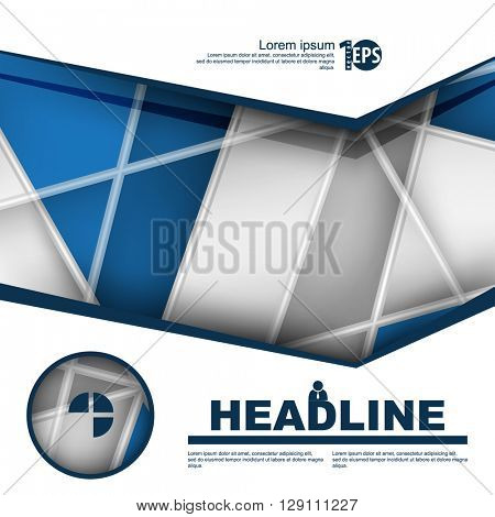 design brochure leaflet with intersecting lines flat layout background material. eps10 vector