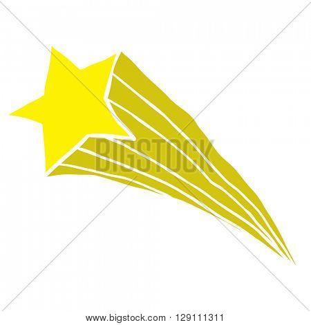 falling star cartoon illustration isolated on white