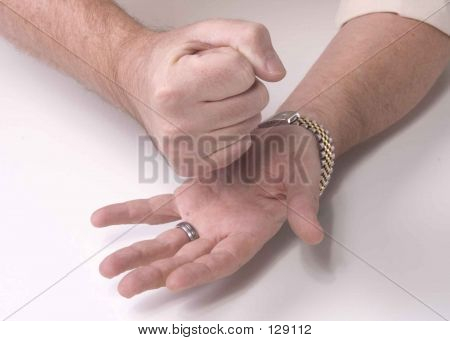 Playing Paper, Rock, Scissors