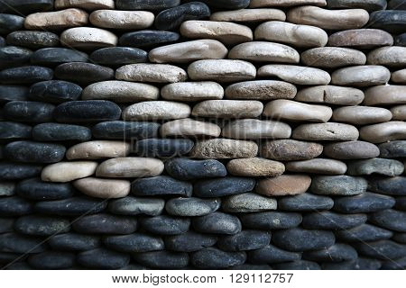 High resolution stone background - black and white stones