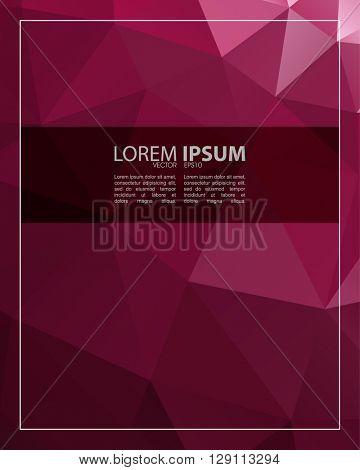 eps10 vector polygon elements elegant rectangle frame concept design
