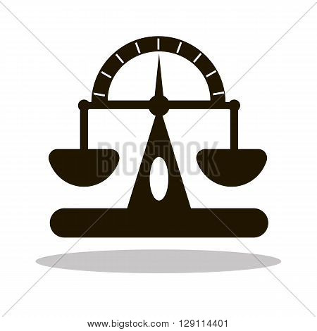 Icon silhouette of flat scales for web site solution